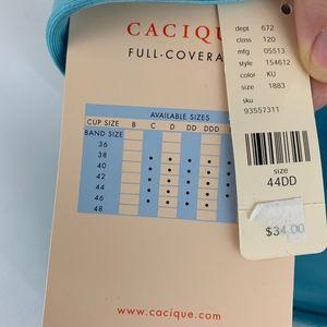 Cacique Intimates & Sleepwear - Cacique Sensual Full Coverage Blue Bra Sz 44DD NEW